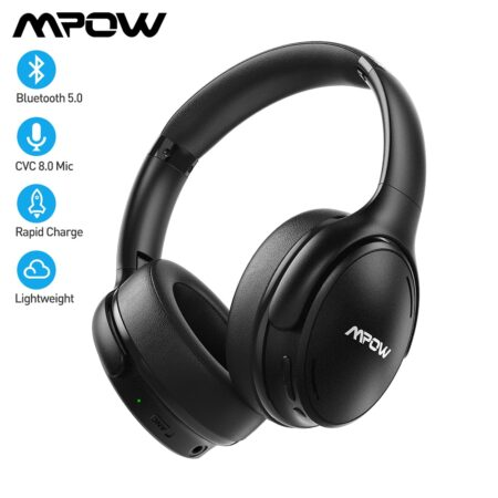 Mpow H19 IPO Wireless Bluetooth Headphones ANC Active Noise Cancelling Headset with Carrying Bag for Huawei Iphone Galaxy Phones