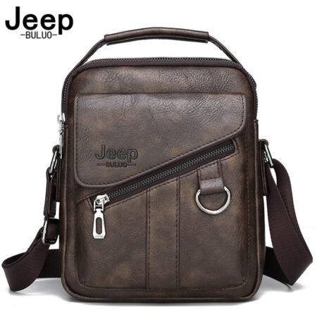 JEEP BULUO Shoulder Bag  Messenger Tote Bag Travel Luxury Brand New  Men BAGS Crossbody  For Male Split Leather Fashion Business