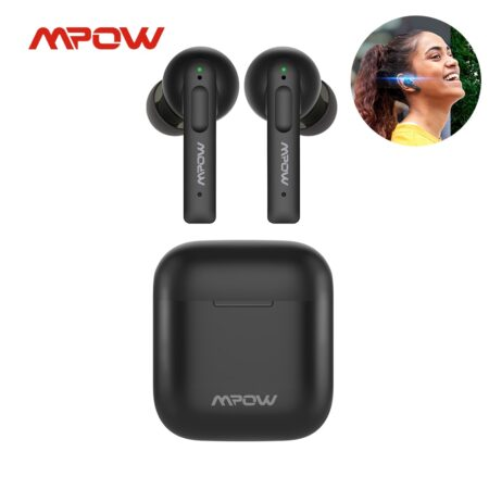 Mpow X3 True Wireless Earbuds V5.0 Active Noise Cancelling Bluetooth Earphones with Microphone 30H Playtime for iPhone Android